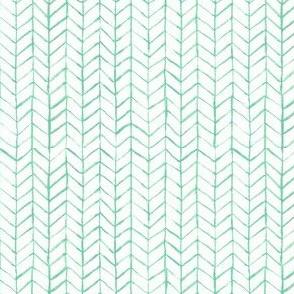 chevron watercolor green