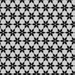 mini black & white petal