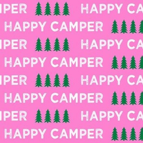 happy camper || hot pink and green