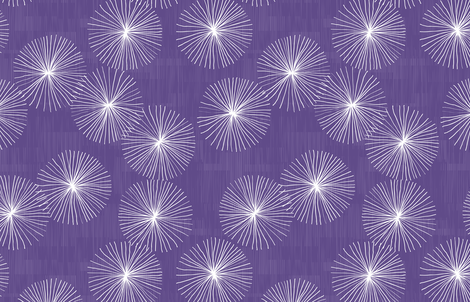 Dandelions Ultraviolet by Friztin fabric by friztin on Spoonflower - custom fabric