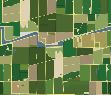 Aerial Farmland fabric by wellfleetdesigns on Spoonflower - custom fabric