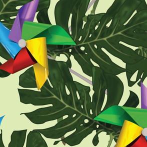 Pinwheels and Plants