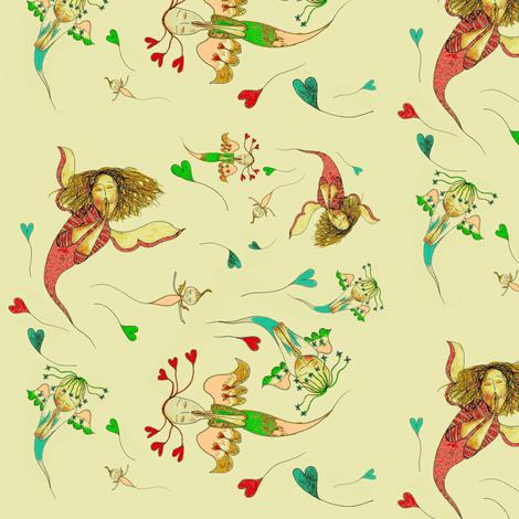 Praying Angels fabric by sowgoodgreta on Spoonflower - custom fabric