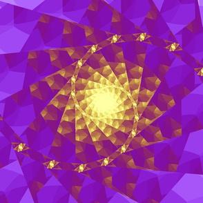 fractal spiral in violet and gold