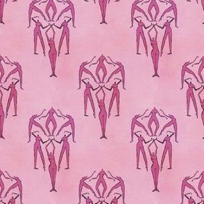 Retro Pink Naked Ladies