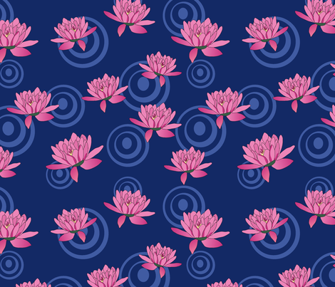 Lily Pond fabric by thatsgraphic on Spoonflower - custom fabric