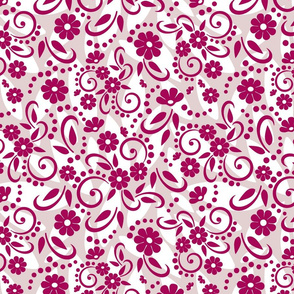Deep Pink Whimsical Daisies