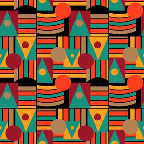 Geometric bauhaus abstract shape
