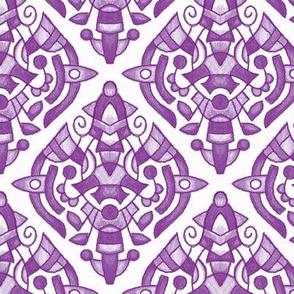 Crayon Medallion -  18B Purple