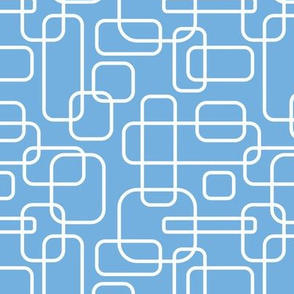 Rounded Rectangles - white on blue