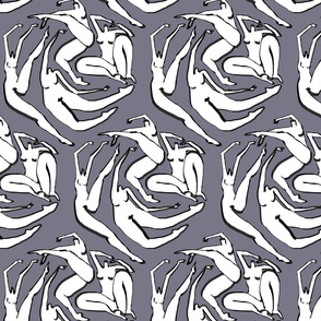 Floating Women Hexagon Slate Gray