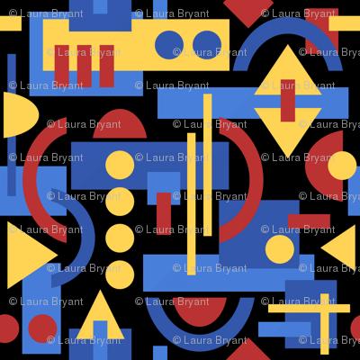Bauhaus Inspired Geometric on Black