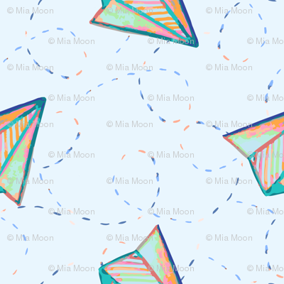 Paper plane light