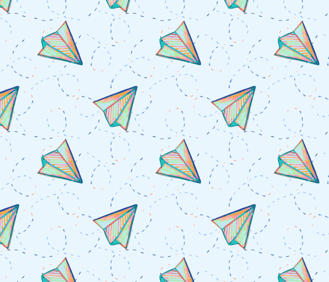 Paper plane light fabric by mia_moon on Spoonflower - custom fabric