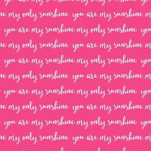 Sunshine - hot pink (condensed) C18BS