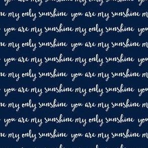 Sunshine - navy (condensed) C18BS
