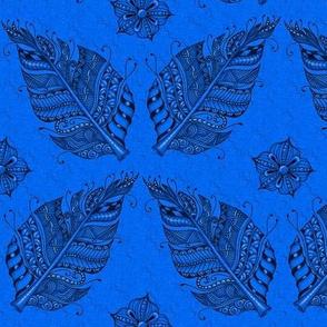 Zen feather royal blue