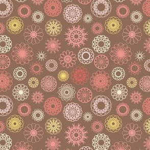 Chocolate Fantasy Ornamental Pattern