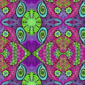 Tie Dye Doodle Purple