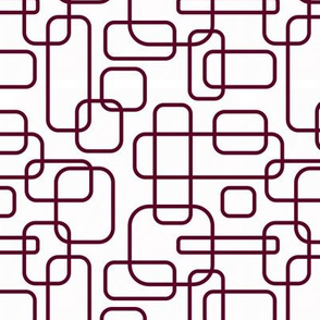 Rounded Rectangles Aggie Maroon on White