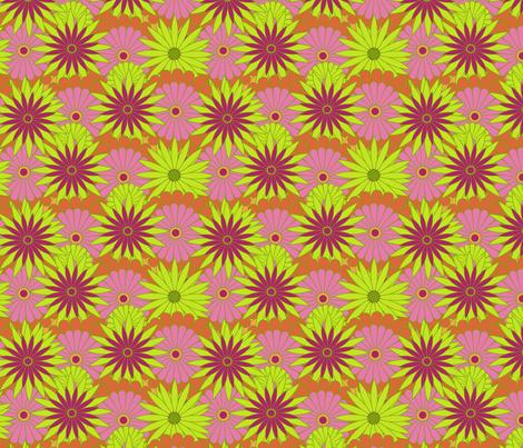 Madeira Dahlias fabric by vivaeris_designs on Spoonflower - custom fabric