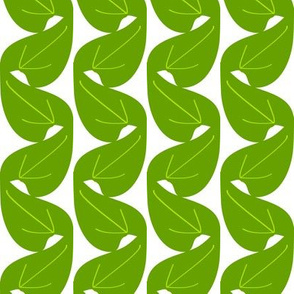 Art Deco Leaves - green