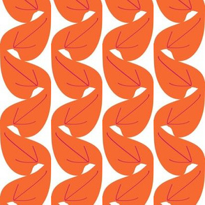 Art Deco stripes - orange