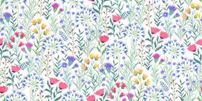 Hand painted Summer Meadow