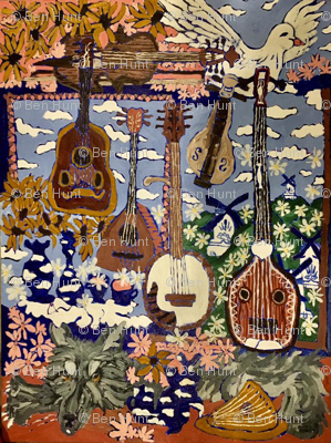 guitars and flowers