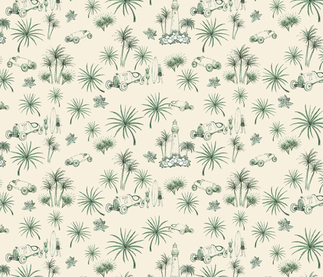 Vintage Florida Fun fabric by leigh_by_the_sea on Spoonflower - custom fabric
