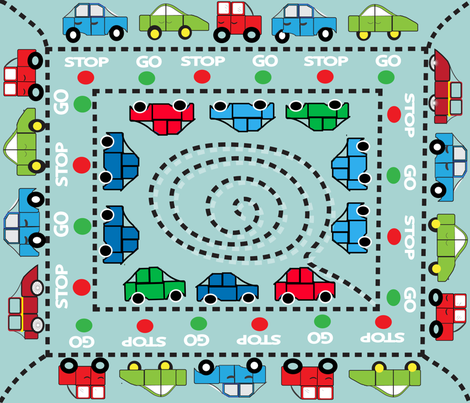 HERE WE GO-01 fabric by soobloo on Spoonflower - custom fabric