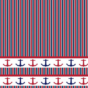 anchors striped white, red and blue