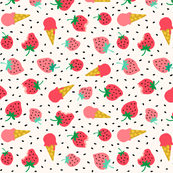 Strawberry summer ice cream party (large)
