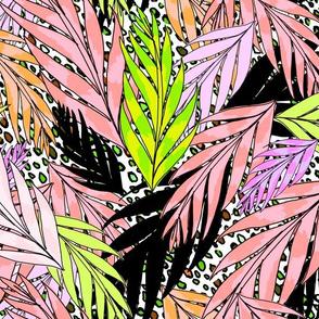 neon jungle in vintage pink