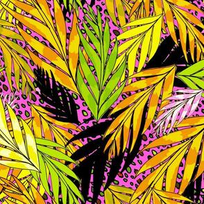 neon jungle in hot golden pink