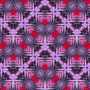 Pink Scalloped Zigzags