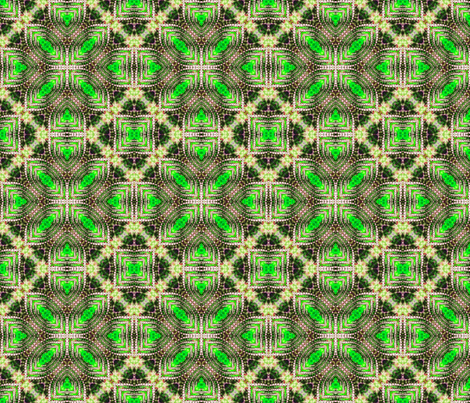 Green Pearled Petals fabric by just_meewowy_design on Spoonflower - custom fabric