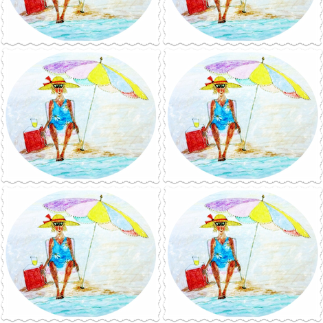 Beach Bubble fabric by sowgoodgreta on Spoonflower - custom fabric