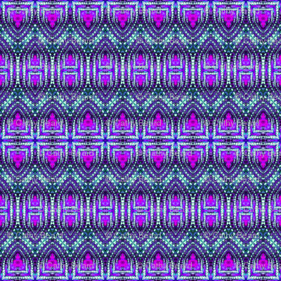 East Indian Stitches in Purple