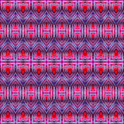 East Indian Stitches in Red