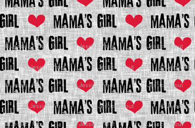 Mama's Girl - valentines day fabric