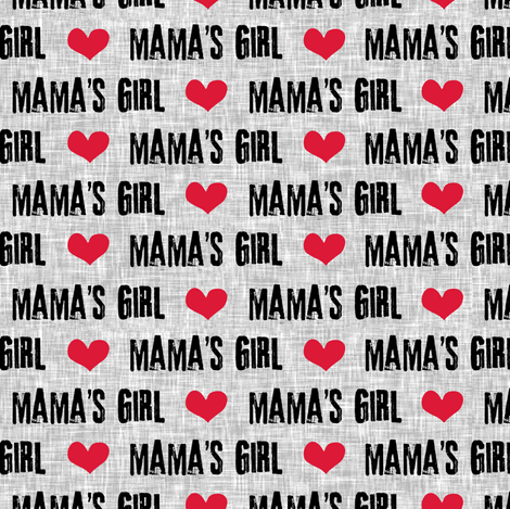 Mama's Girl - valentines day fabric fabric by littlearrowdesign on Spoonflower - custom fabric