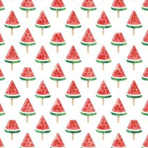 """(1"""" scale) watermelon popsicles - red"""
