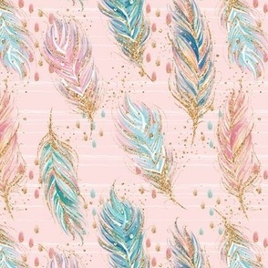 Pink Woodland Feathers