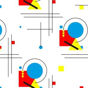 Bauhaus geometric pattern