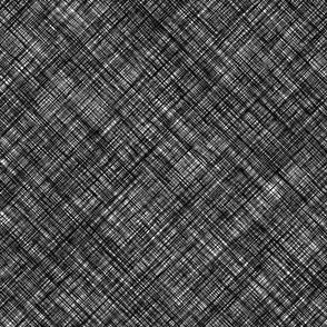 Medium black linen vector crosshatch