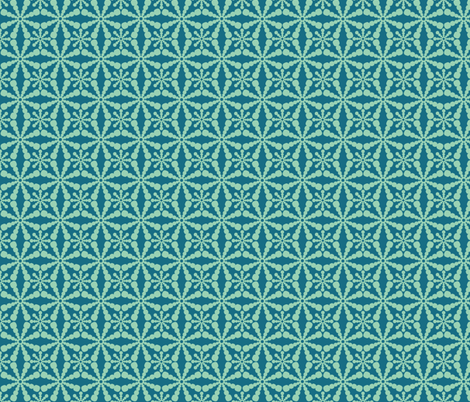 Abstract Circles - Blue fabric by lehoux_art on Spoonflower - custom fabric