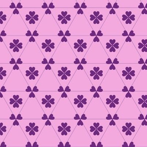 Purple clover on pink background.
