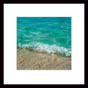 Caribbean Surf 2' x 2' Wallpaper Poster