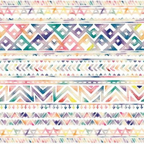 Watercolor Ethnic Pattern